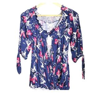 Just In!Adorable Blue floral print Living Doll Top